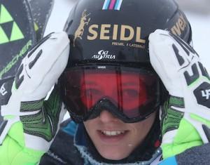 FLATTACH,AUSTRIA,13.OCT.15 - ALPINE SKIING - OESV, Oesterreichischer Ski Verband, technical training, ladies, Moelltaler Gletscher. Image shows Elisabeth Kappaurer (AUT). Photo: GEPA pictures/ Andreas Pranter